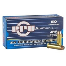 PPU 44 REM MAG Jacketed Hollow Point 240gr 15,6g
